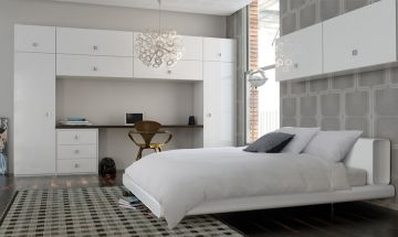 Ultragloss White Bedroom Doors - By BA Components