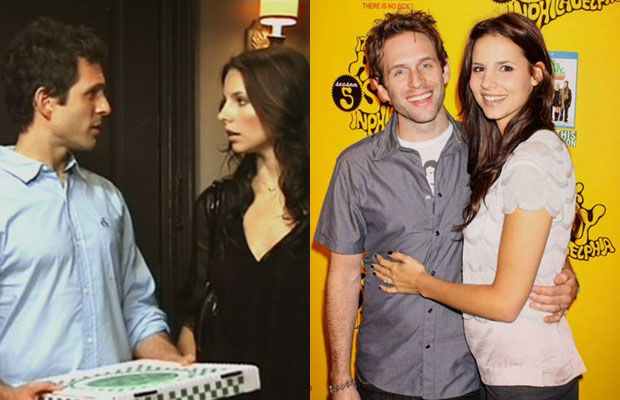 Glen Howerton and Jill Latiano of It's Always Sunny In Philadelphia - Years dated in real life: 4