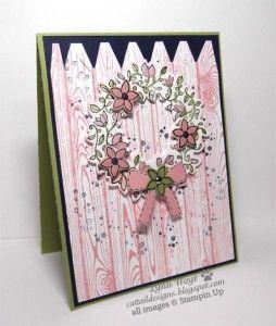 Circle of Spring Wreath, Hardwood stamps