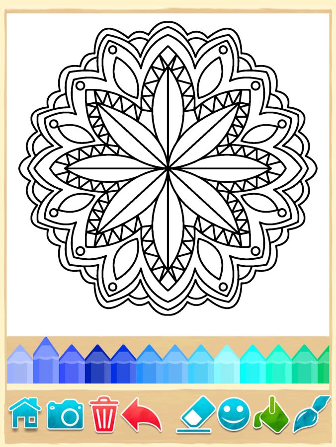 Mandala Coloring Pages- for your phone!