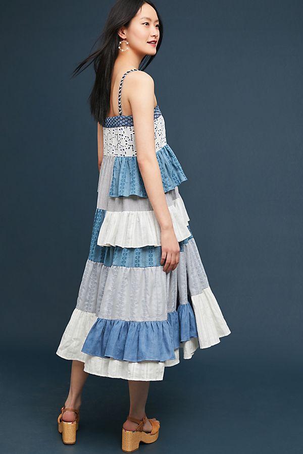 12c7e9ddd35e Tiered Patchwork Midi Dress #ad #AnthroFave #AnthroRegistry Anthropologie # Anthropologie #musthave