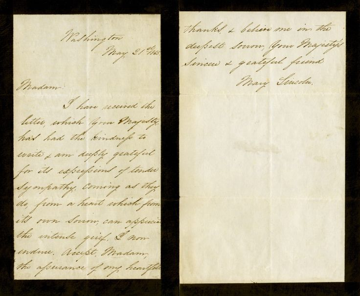 Condolence Letter On   Abraham Lincoln Civil War Who