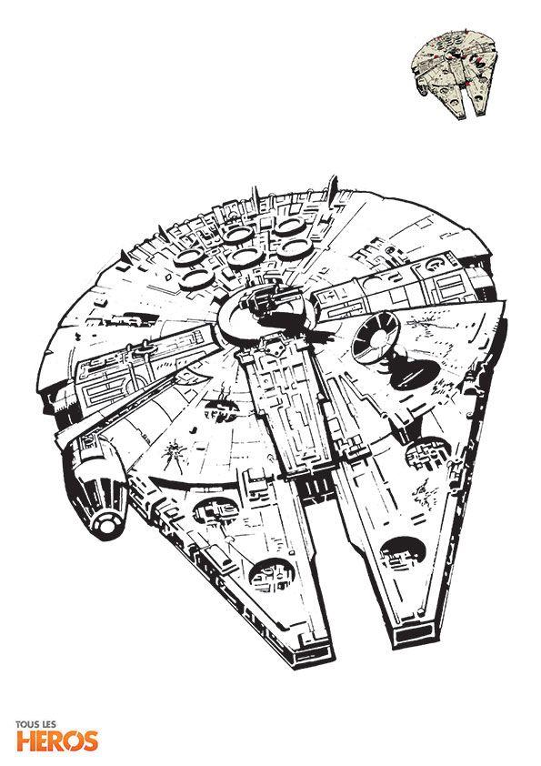 Les 25 meilleures id es de la cat gorie coloriage de star wars sur pinterest coloriage star - Dessin vaisseau star wars ...