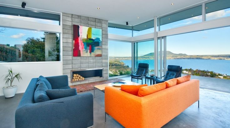 Lake Taupo luxury holiday rental, Minimalist Taupo Retreat | Amazing Accom