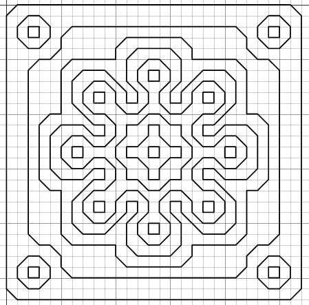 imaginesque free blackwork embroidery patterns  Web page uses this as a fill pattern which looks fabulous