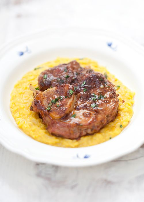 Ossobuco alla Milanese con Gremolata | Cross-cut Veal shanks braised with Vegetables, White Wine and Broth. Garnished with Gremolata, Lombardia