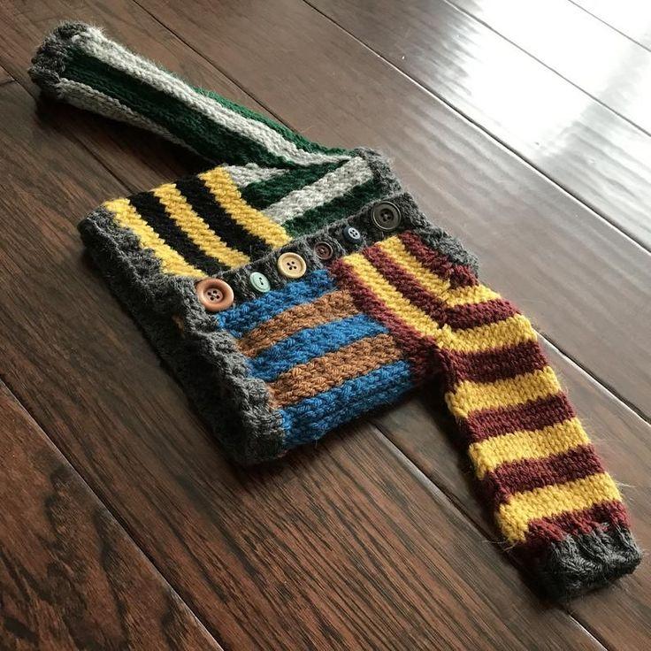 Harry Potter Inspired Fingerless Gloves Pattern Instant Pdf Download Gryffindor