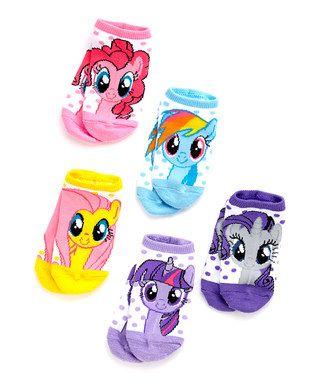 My Little Pony No-Show Five-Pair Socks Set - Girls