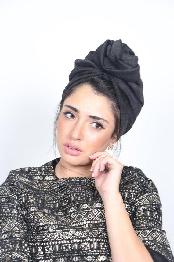 bd724a52e turban, black turban flower, full turban hat, turban headwrap, chemo ...
