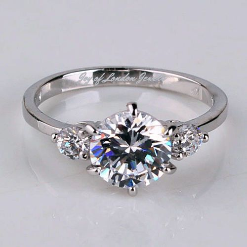 A Perfect 1.5TCW Round Cut Russian Lab Diamond 18K White Gold Promise – Joy Of London Jewels