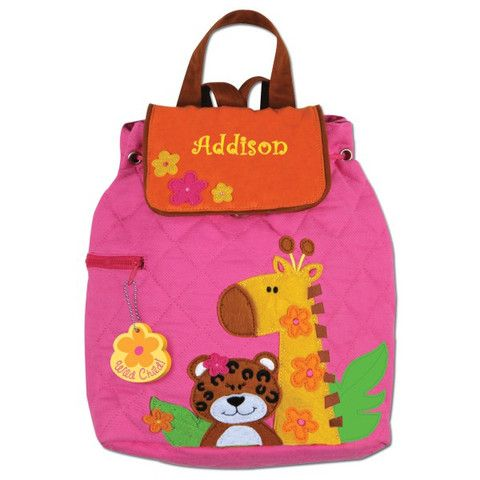 Deze Stephen Joseph Girl Zoo Quilted Rugzak Vind Je Op Find This Pin And More On Personalized Backpacks Bags