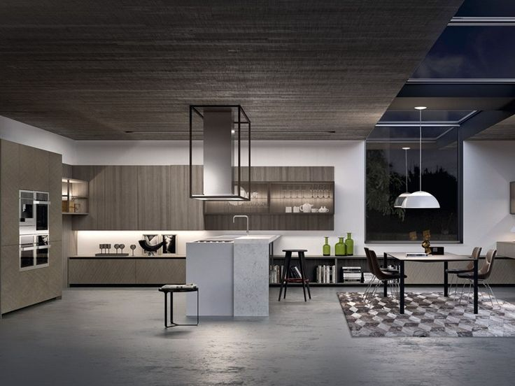 Fitted Kitchen With Peninsula ALUMINA PENINSULA Aluminia Collection By Comprex  Design MARCONATO