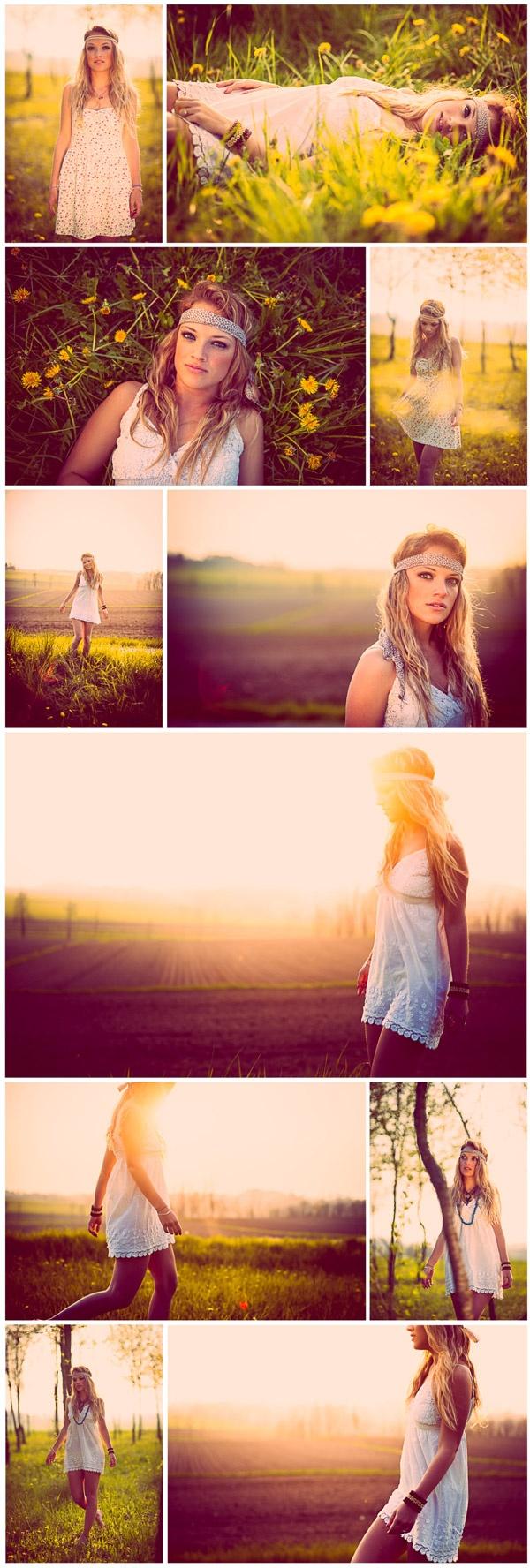 hippie fashion wonderful young girl