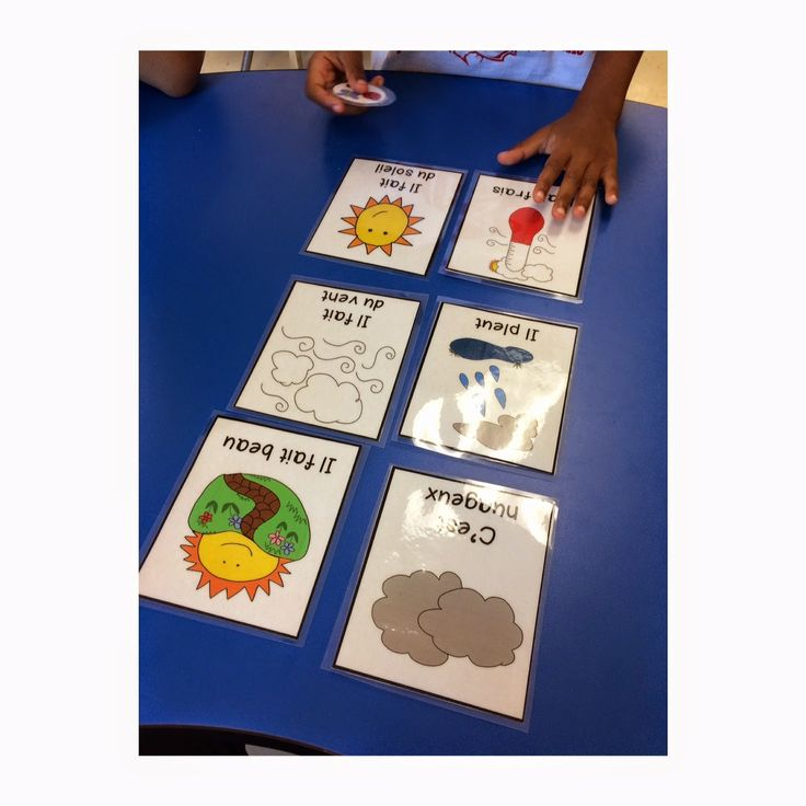 French weather flashcards and games! French Immersion or Core French
