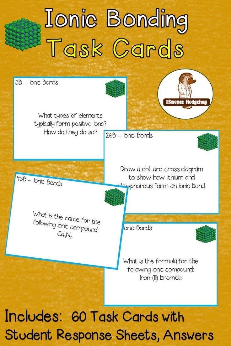 Ionic Bonding Task Cards Ionic Bonding Task Cards High School Science [ 1105 x 736 Pixel ]