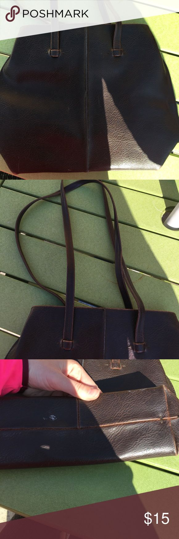 Brown leather purse Great condition leather purse. One small spot on the bottom. Brown. Liz Claiborne Bags Satchels