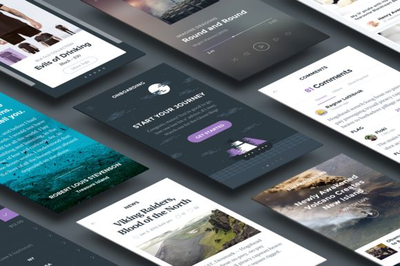 Ghost Ship Mobile UI Kit by Hoarrd! on @creativemarket