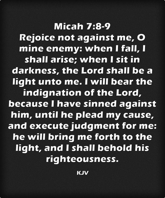 Micah 7:8-9 King James KJV   Amazing King James Version   Scripture