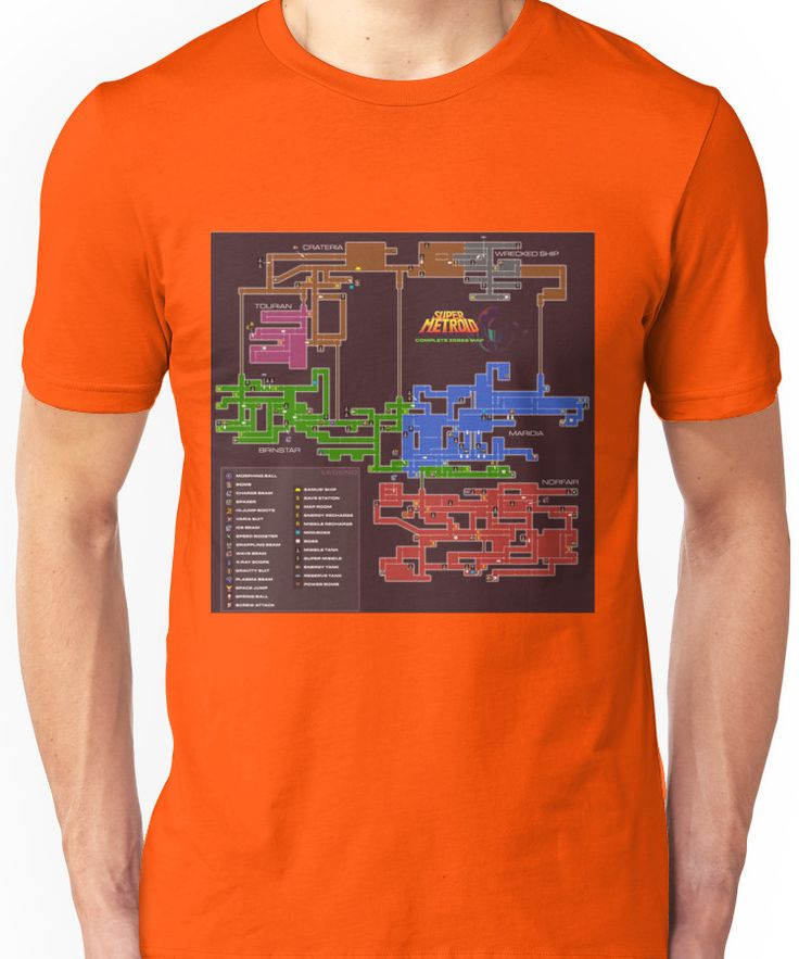 Super Metroid Map Unisex T-Shirt