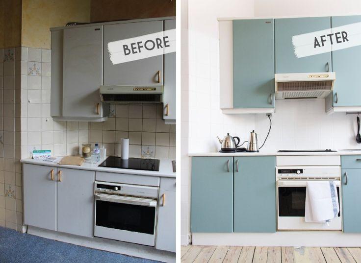 Kitchen makeover before after / Une cuisine avant - après sur www.augusteetclaire.com