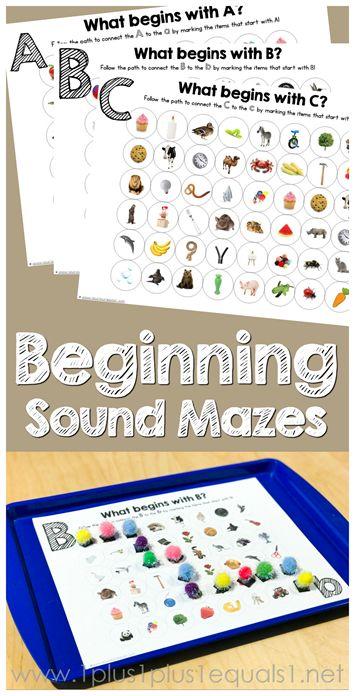 Beginning Sound Mazes ~ A, B, C FREE!