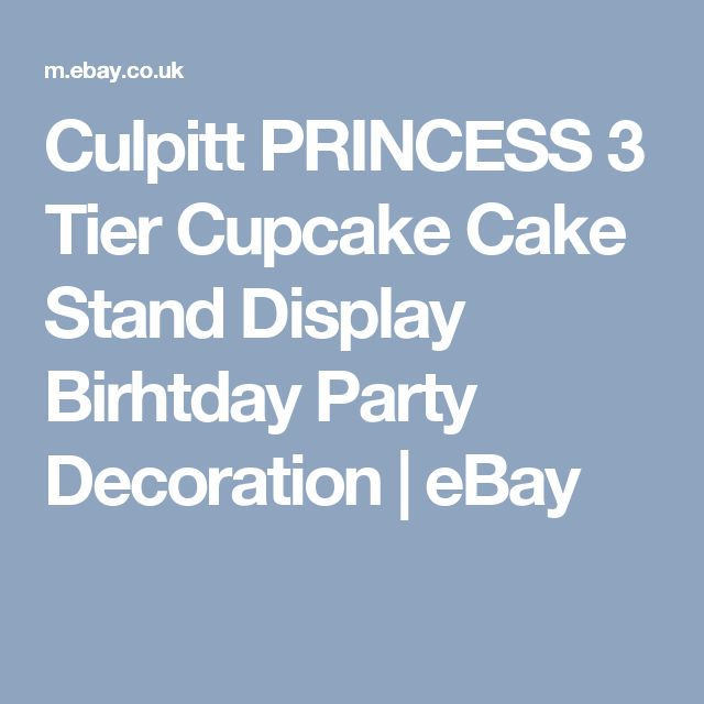 Culpitt PRINCESS 3 Tier Cupcake Cake Stand Display Birhtday Party Decoration  | eBay