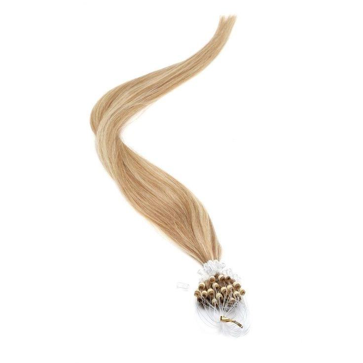 Micro Ring Hair Extensions | 18 inch | Micro Loop Hair Extensions Mousey Brown / Blonde (18-22Mix)
