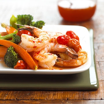 Saucy Shrimp and Vegetables  20 Minute Dinner
