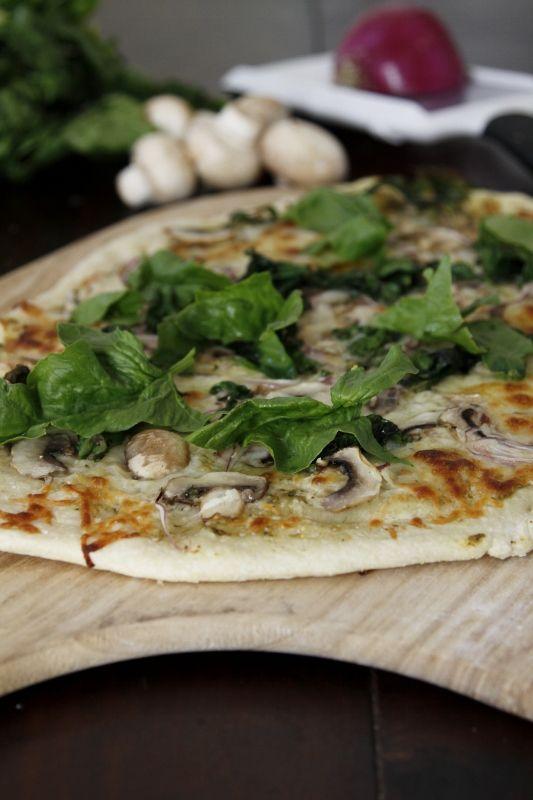 Mushroom PizzaYummy Dishes, Mushrooms Pizza, Spinach Pizza, Yummy Recipe, Pizza Pizza, Delicious Recipe, Mushrooms Spinach, Food Recipe, Homemade Mushrooms