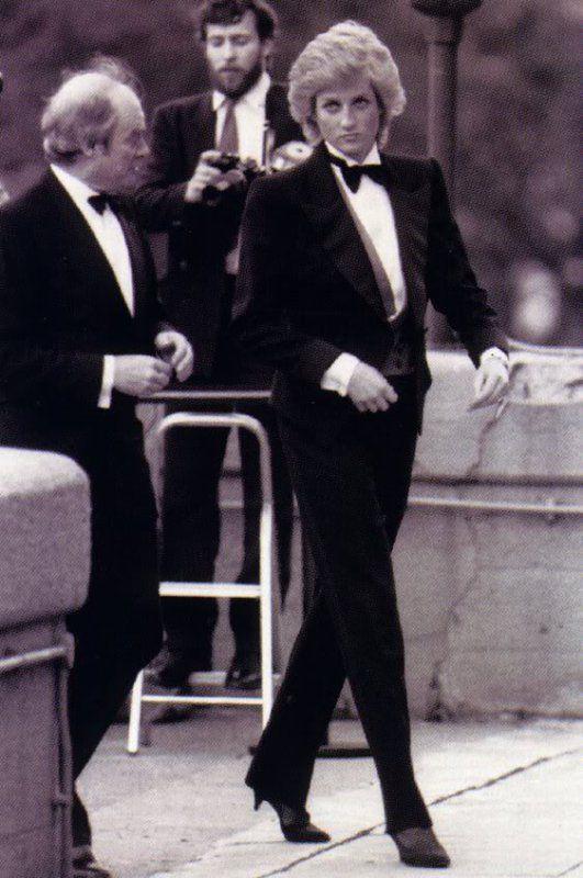 Princess Diana at the Charity Greyhound Meeting, Wembley, 1988.