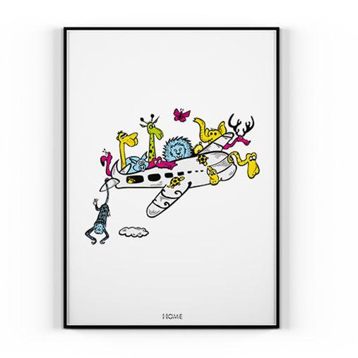 Plakat ANIMAL'S AIRPLANE - 50x70cm - home design