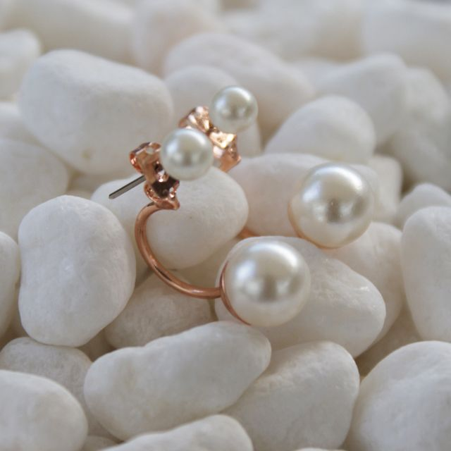 #bijoux #jewels #earrings ##pearl #lovely #romance #perle #amour