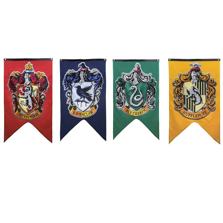 Harry Potter Party Supplies College Flag Banners Gryffindor Slytherin Hufflerpuff Ravenclaw Kids Toys magic Home Decoration-in Action & Toy Figures from Toys & Hobbies on Aliexpress.com | Alibaba Group