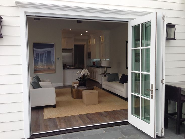 Big accordion style french doors backyard pinterest for French accordion doors