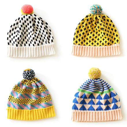 Cool hats from All Knittwear... These are so cute! Expensive but cute. Need to find someone that can knit!