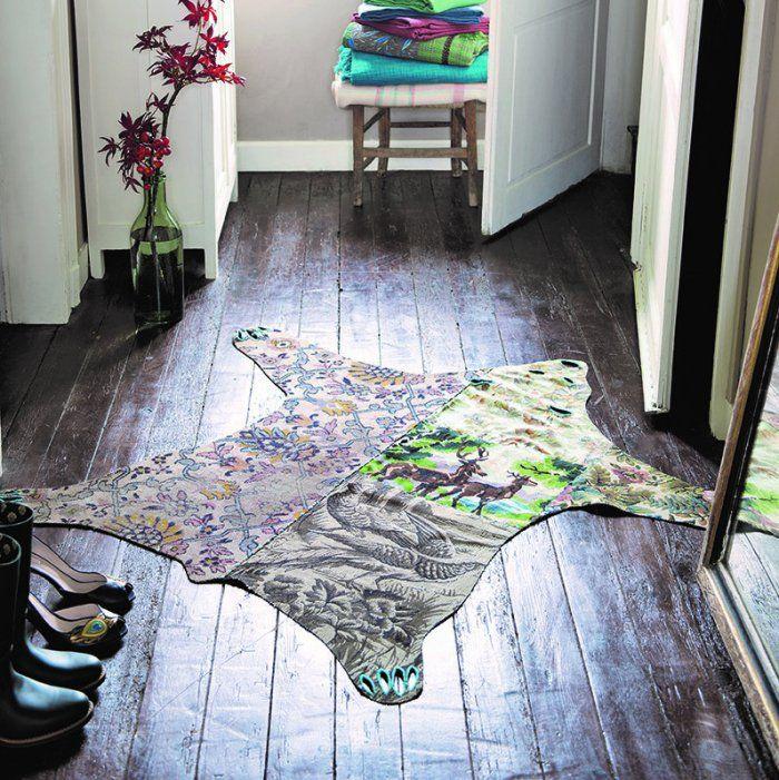 Coudre un tapis façon«peau de bête» en tapisseries