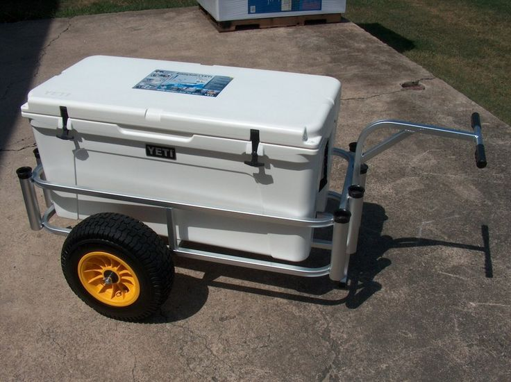 """This wide fishing cart by Fish N Mate features an anodized aluminum finish which means you will enjoy it for years without corrosion. Imagine being able to use your Yeti cooler with this 19"""" wide fishing cart. If you don't have a Yeti cooler then you can certainly fill this fishing cart up with an endless amount of surf fishing gear. Fish N Mate comes standard with a lifetime limited warranty unlike it's competitors. Fish-N-Mate employs 20 years of surf fishing knowledge into every pier…"""