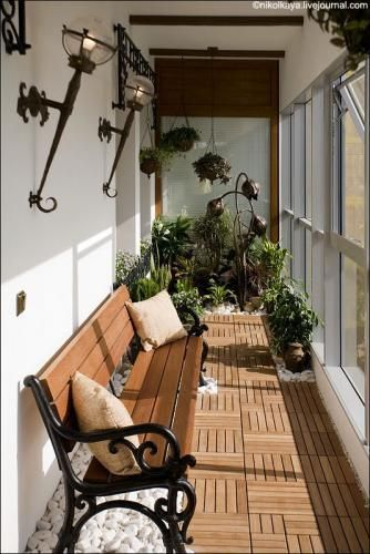 Ideas for balcony - The floor and the plants