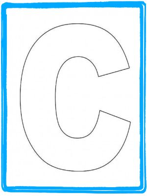 127 best images about letter c crafts on pinterest crabs for Large letter c template