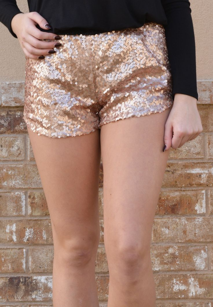into the light sequin shorts-gold