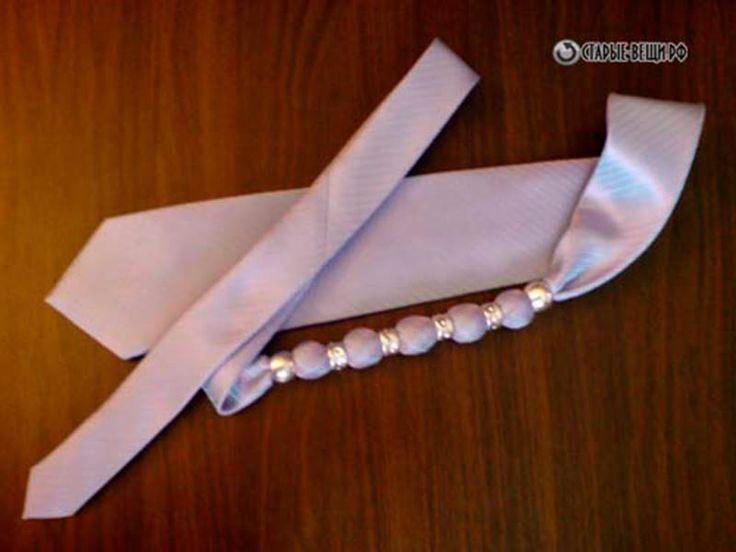 Женские украшения из мужских  галстуков