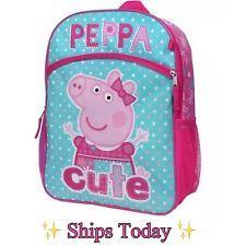 Nick Jr Peppa Pig 5PC Backpack, Lunch Box, Cinch Sak, Pencil Case, Water Bottle