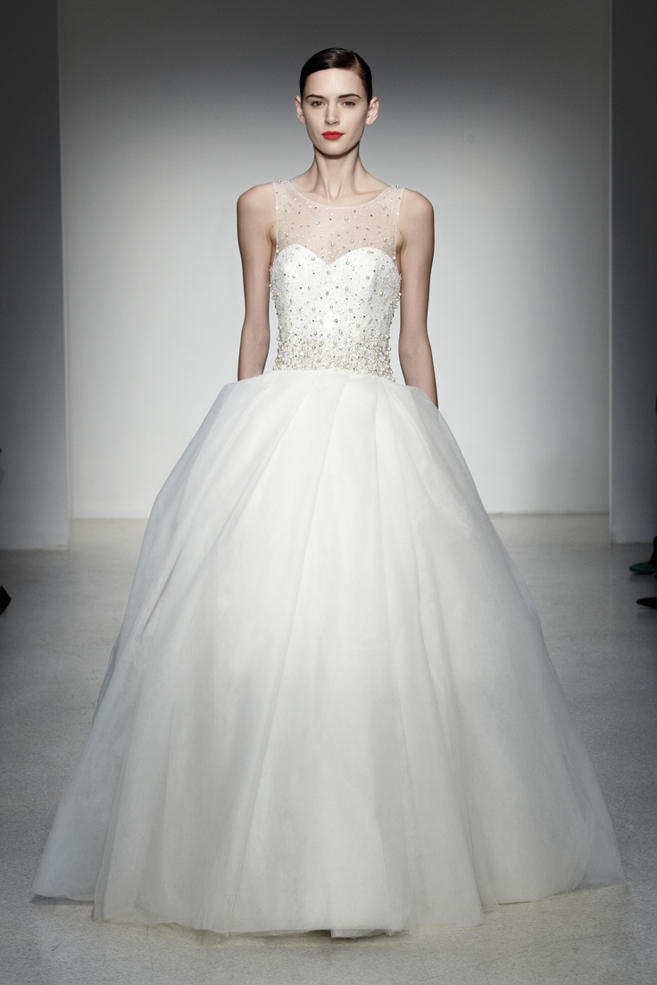12 best fall 2013 wedding dresses images on pinterest baton plaza by amsale tulle illusion neckline gown with beaded bodice and pleated skirt ombrellifo Image collections