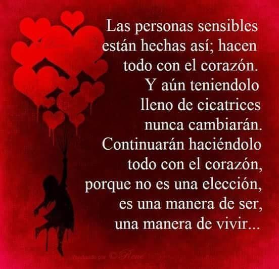 Las personas sensibles ...