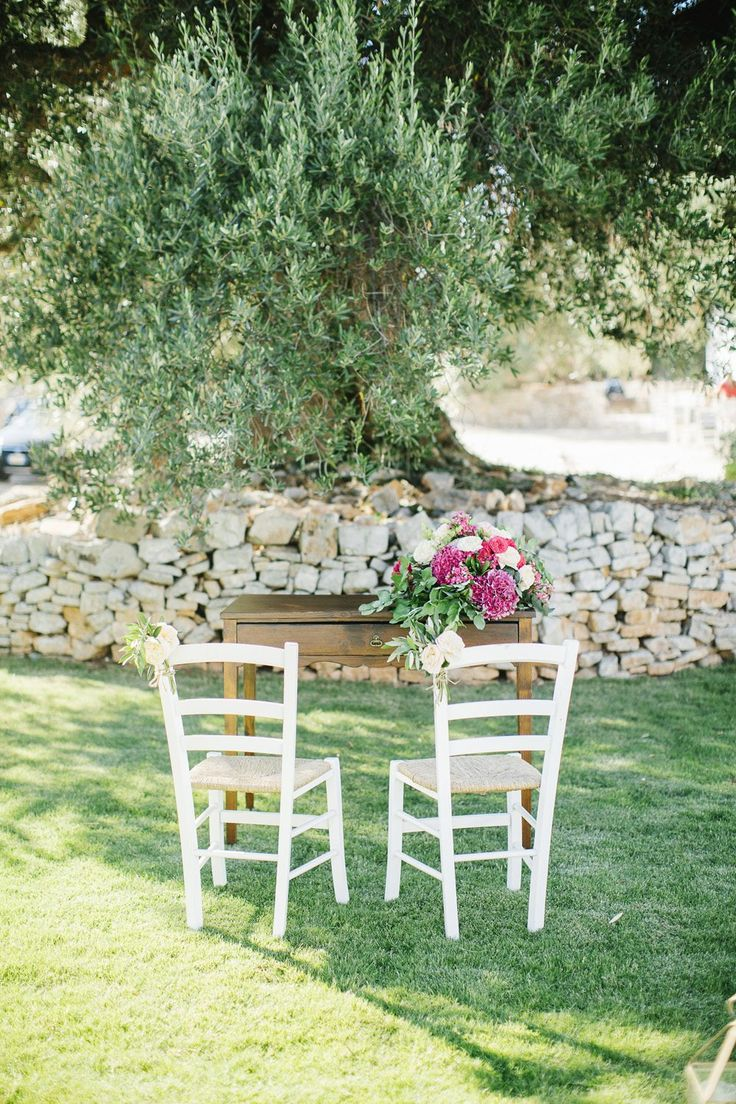 Wedding Ceremony underneath a century-old olive tree in Apulia, Italy