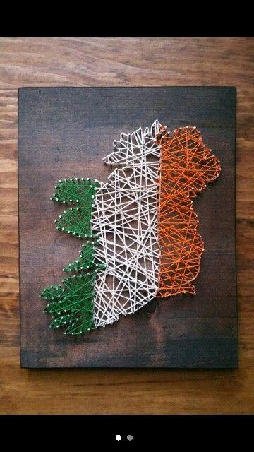 Ireland flag string art