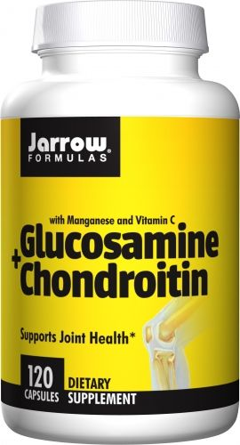 NO / Glucosamine & chondroitin sulfate are fundamental components of joint tissue involved in the production of hyaluronic acid, which is an important component of the synovial fluid that lubricates the joints & a major component of the connective tissue in the skin.* Vitamin C & manganese are required for the synthesis of collagen & cartilage.* Jarrow Formulas glucosamine sulfate is SODIUM FREE & stabilized with potassium chloride (KCl). For best results, use with Jarrow Formulas JarroS...