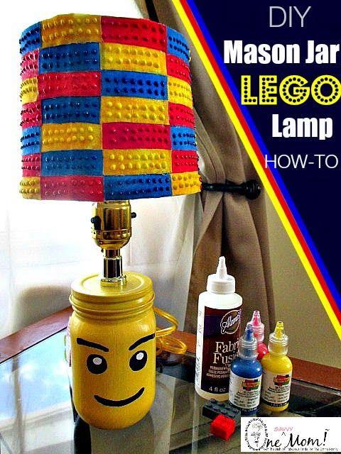 One Savvy Mom ™   NYC Area Mom Blog: DIY LEGO Minifigure Mason Jar Lamp + LEGO Brick La...