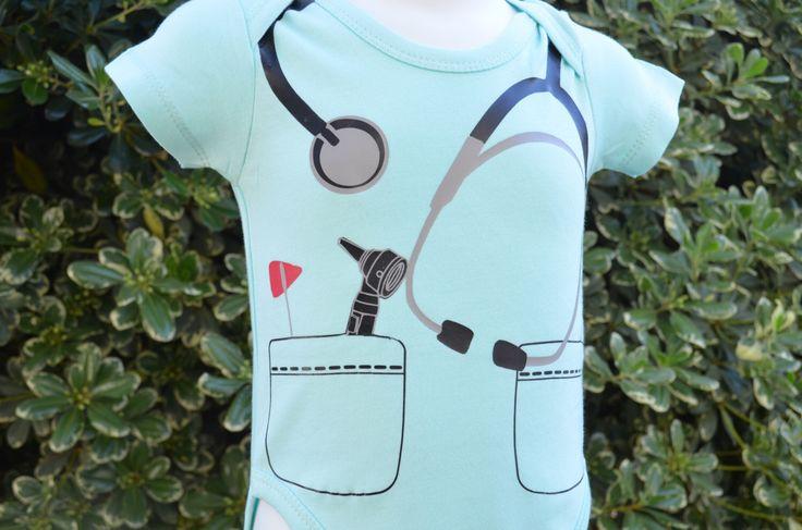 Dr or Nurse baby bodysuit or costume. by doodledees on Etsy https://www.etsy.com/listing/225611776/dr-or-nurse-baby-bodysuit-or-costume