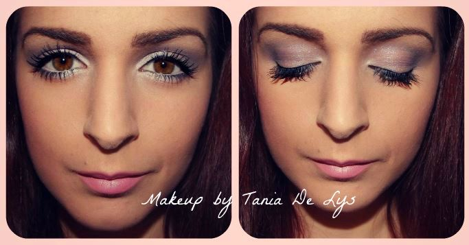 Light pink and purple makeup
